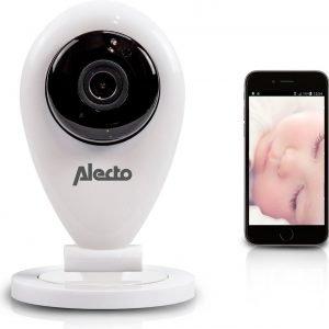 Alecto IVM-100 wifi babyfoon met camera | Monitor je kindje wereldwijd met gratis app | Wit / Zwart