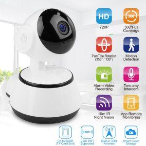 Babycam- beveiligingscamera- baby cam -beveiliging camera- babyfoon -draadloos- telefoon koppeling - intercom