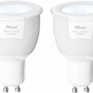 Trust Smart Home - 2 Dimbare GU10 Led Spots - White and Flame