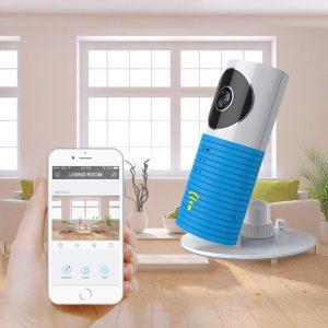 Draadloze IP Camera Blauw - Babyfoon functie - bewegingsdetectie - Met adapter