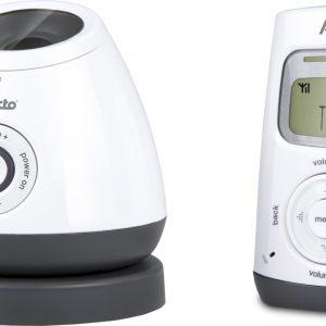 Alecto DBX-111 DECT babyfoon met projector | De enige babyfoon met trilfuncite en met een prachtige sterrenhemel | Wit / Antraciet