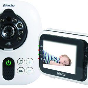 "Alecto DVM-80 Babyfoon met Camera 2,8""   Uitbreidbare babyfoon  Kleurenscherm   Wit / Zwart"