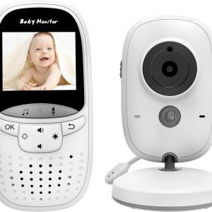 Babyfoon Baby Monitor Met Camera en Temperatuursensor Wit