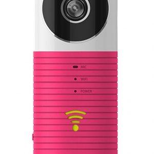 Cleverdog Draadloze IP Beveiligingscamera / Babyfoon - Met Infrarood - Roze