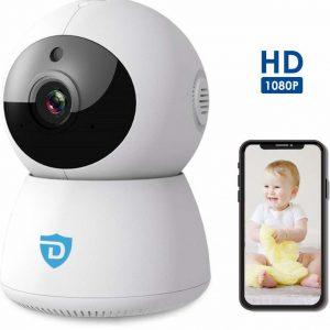 Detepo® Wifi Baby Camera   HD Beveiligingscamera voor Binnen   IP Babyfoon Monitor met Tweerichtingscommunicatie   PTZ Bestuurbaar met Gratis App   Full-HD 1080p met Nachtzicht