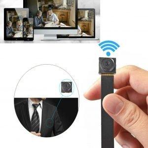 Kleine Draagbare Spy Camera WiFi   Verborgen Pinhole Camera  mini-camera met een hoge resolutie ,Spy Camera knoop Geschikt voor families, bedrijven en particulieren