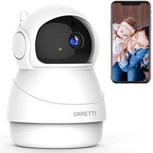 Orretti® 1080P FHD WiFi IP Beveiligingscamera met Bewegingsdetectie Nachtzicht Microfoon met Terugspreekfunctie met iOS/Android app - Wit