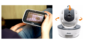 Babyfoon met beweegbare camera